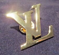 NEW Louis Vuitton LV Designer Pin for Bag or Scarf Badge Brooch Jewelry Monogram