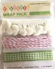 Cakewalk Wrap Pack Pompom Bakers Twine And Gingham  October Afternoon
