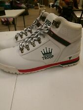 Mens World of Troop Expo Boots size 11 white green red T50622 181