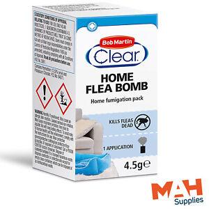 Bob Martin Clear Home Flea Bomb Home Fumigation Pack Kills Fleas Room Fumigator