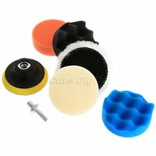 """6pcs 3"""" Sponge Polishing Waxing Buffing Pads Kit & Drill for Compound Auto Car"""