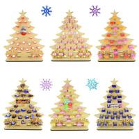 Children Christmas Tree Wooden Reusable Christmas Advent Calendar Chocolate Gift