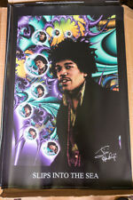 Jimi Hendrix Poster Rare Discontinued - Signed By Leon Hendrix