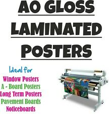 A0 Gloss Laminated Poster Prints - Waterproof & Dustproof - Fully Sealed Posters