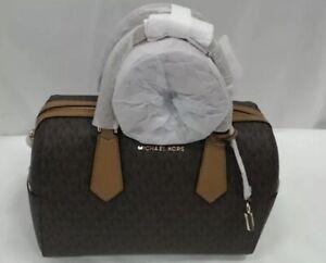 Michael Kors Large Duffle Satchel Bag with Gold Hardware (PVC) 11.5 x 8 x 7