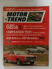 Motor Trend March 1968 428 Shelby Cobra vs 427 Corvette - Impala SS Ford Galaxie