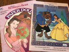 Uncut paper doll book lot Beauty and the Beast book and paper play set