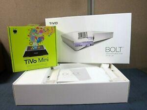 TiVo BOLT 500 GB DVR 4K Streaming Media Player+Sealed TiVo Mini Receiver (READ)