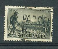 AUSTRALIA 1/- Black Centenary of Victoria Perf 11.5 SG 149a ASC 154 used