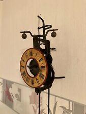 VERY RAR OLD STEEL TOWER FOLIOT VERGE HORIZONTAL SKELETON WALL CLOCK