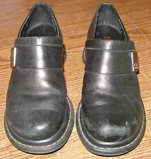 HARLEY DAVIDSON Shoes LEATHER Black OXFORD Slip On MOTORCYCLE Ankle WOMENS 6