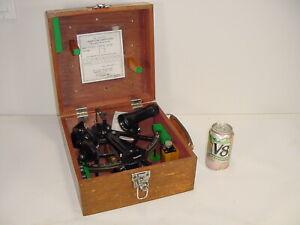 Vintage 1977 Tamaya Spica MS-733 Micrometer Marine Navigation Sextant w/ Case