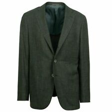 NWT CARUSO Green Wool Blend 3 Roll 2 Button Sport Coat Size 54/44 R Drop 7