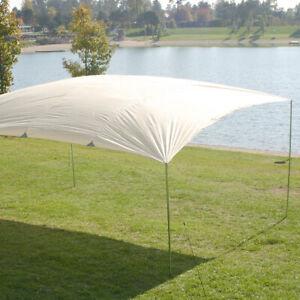 MONTIS LAKE, großes SONNENSEGEL, weiß, ca. 4x5m, 4,4kg