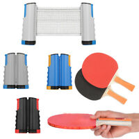 Portable Extendable Net Table Tennis Paddle Bats Ping Pong Training Accessories+