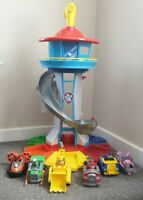 Paw Patrol My Size Look Out Tower Playset 6 main Vehicles & Pups extra pup packs