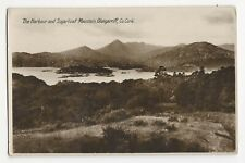 Vintage Unposted The Harbour and Sugarloaf Mountain Glengarriff Co. Cork RPPC