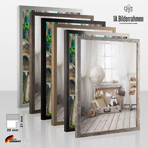 Bilderrahmen Leo Holz Poster Foto Puzzle Rahmen Modern 4 Farben schmal Vintage