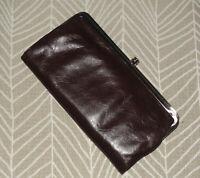 Hobo International Lauren Leather Clutch ~ DARK BROWN NWOT