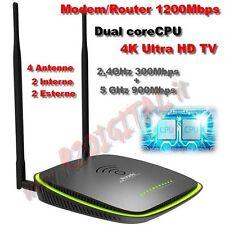 ROUTER MODEM ADSL 1200Mbps TENDA D1201 WIRELESS N300 PRINT SERVER HARD DISK 4K
