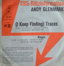 "7"" 1977 CBS BLITZ PROMO IN MINT-! ANDY GLENMARK Traces"