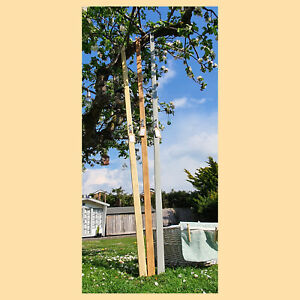 Washing Clothes Line Prop Pole Wooden Collapsible Handmade in UK FREE DELIVERY