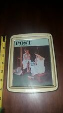 Vintage Norman Rockwell Saturday Evening Post 1954 Metal Tin Tray Daher England
