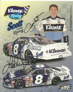 Lake Speed & Bobby Hillin Autographed 8x10 Postcard Busch Series L@@K