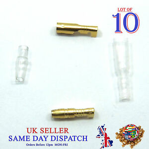 10x Motorcycle 3.9mm Bullet Connector Male & Female Socket Classic Terminal G&C