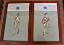 Pair of Revolutionary War Soldiers with Reprod. Uniform Buttons Framed Prints #2