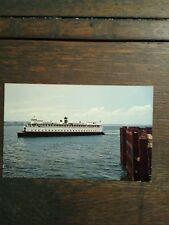 Washington State Ferries M.V.Ferry Entetai Photo Post Card Seattle Washington