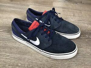 Nike Mens Zoom Stefan Janoski Skakeboarding Shoes Blue 333824-417 Lace Up 7.5