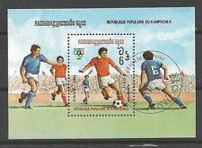 Football Kampuchea (39) bloc oblitéré