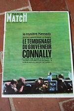 JOURNAL REVUE PHOTO PARIS MATCH N°921 KENNEDY LE TEMOIGNAGE DE CONNALY 1966