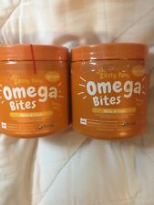 Lot Of 2 Zesty Paws Omega Bites Skin & Coat Support, 1 Chicken/1 Bacon 180 Chews