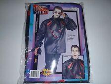 Pirate Puffy Shirt Vampire Ruffle Blouse Mens Halloween Black Dress Shirt STD