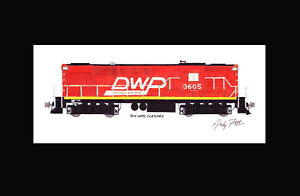 "Duluth Winnipeg & Pacific Orange RS11 11""x17"" Matted Print Andy Fletcher signed"