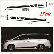1 Pair Vinyl Stripe Graphics Stickers Decals For Car SUV Body Sides Door Skirt