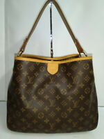 Louis Vuitton Delightful MM Tote M40353 Brown Monogram Shoulder Bag -Made in USA