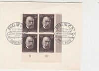 Germany 1945 Berlin Robert Kock Slogan Cancel Four Stamps Cover FRONT ref R19335