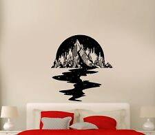 Wall Decal Night Sky Mountains Stars River Reflection Forest Vinyl Sticker ed933