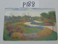 VINTAGE POSTCARD STAMP ST PAUL MINNESOTA-1910 FLOWERS IN COMO PARK PRETTY