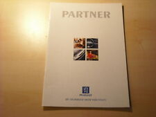 50709) Peugeot Partner Prospekt 09/1996