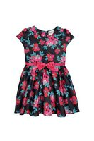 Girls Floral Black Holiday/Party/Wedding Dress 7-8 9-10 11-12 yrs Free UK P&P