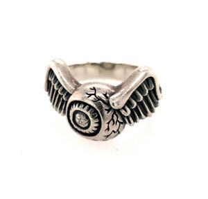 Von Dutch Flying Eyeball Ring Sterling Silver RARE! - Size 11