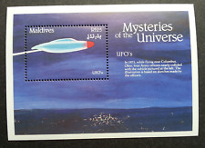 Maldives Mysteries Of The Universe 1992 UFO Space Universal Astronomy (ms) MNH