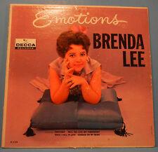 BRENDA LEE EMOTIONS VINYL LP 1961 MONO ORIGINAL PRESS NICE COND! VG/VG+!!A