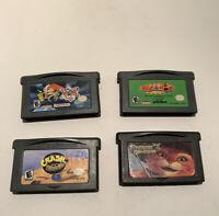 Set of 4 Game Boy Games: Shrek 2, Atomic Betty, Crash Nitro Kart, Whac a Mole