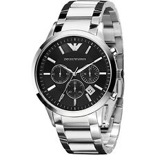 NEW EMPORIO ARMANI AR2434 MENS STEEL WATCH - 2 YEARS WARRANTY - CERTIFICATE