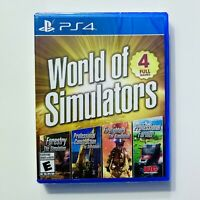 World of Simulators Sony Playstation 4 PS4 New Sealed Four Games Free Shipping